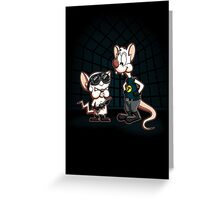 Pinky And The Brain What Do You Want To Do Tonight Greeting Card