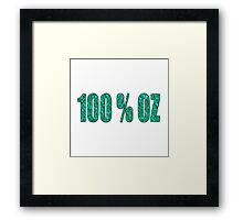 100 percent Aqua OZ Framed Print
