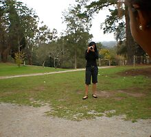 LOOK OUT! BEHIND YOU! {The Photographer In Action group entry} by myamateurshots