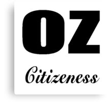 OZ citizeness Canvas Print