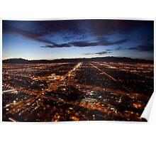 View of Las Vegas at night Poster