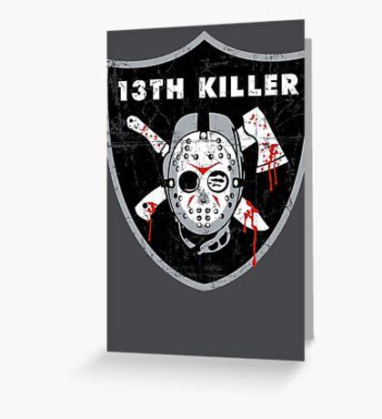 13th Killer Greeting Card