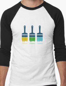 color brushes Men's Baseball ¾ T-Shirt