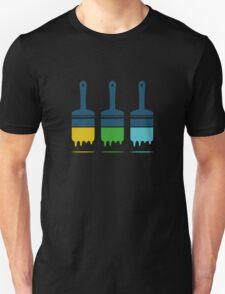 color brushes Unisex T-Shirt