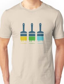 color brushes Unisex T-Shirt