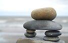 Standing Stones -  Inukshuk   by Barbara Burkhardt