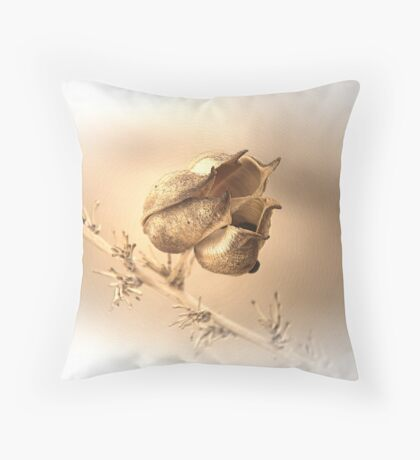Red Yucca Seed Pod Throw Pillow