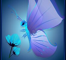 Lady Blue Butterfly by Lotacats