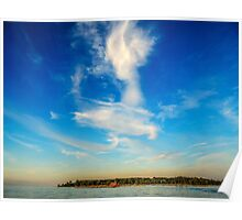 Angel in the sky ~ Landscape Horizontal Poster