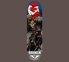 Skeleton Mountie Skateboard Unisex T-Shirt
