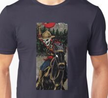 Skeleton Mountie Riding demon horse Unisex T-Shirt