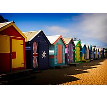 Bathing Boxes Photographic Print