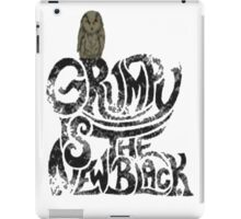 Grumpy is the new Black iPad Case/Skin
