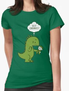 Organic Dinosaur Womens Fitted T-Shirt