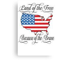 Land of the Free USA Flag Canvas Print