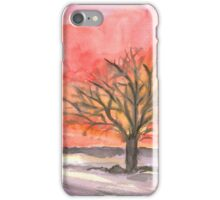 Red Winter Dreams iPhone Case/Skin