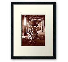 The Lone Shearer Framed Print
