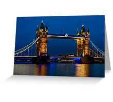 Tower Bridge during the blue hour, London Greeting Card