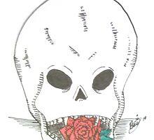 Valentine Skull by Katz Karma