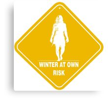 Winter At Own Risk Canvas Print