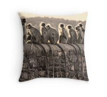 Monkey Tails Throw Pillow