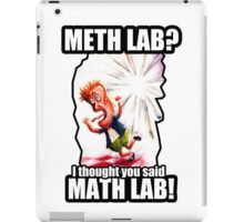 Math Lab not Meth Lab iPad Case/Skin