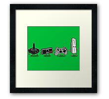 Controller Evolution Framed Print
