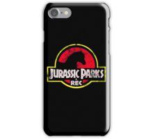 Jurassic Parks and Rec Distressed  iPhone Case/Skin