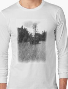 Drawing pond small Island Long Sleeve T-Shirt
