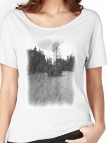 Drawing pond small Island Women's Relaxed Fit T-Shirt