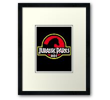 Jurassic Parks and Rec Clean Framed Print