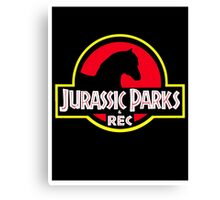 Jurassic Parks and Rec Clean Canvas Print