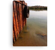 Tyred At The Dock Canvas Print