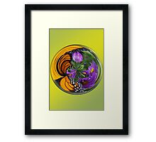 Nature in a Glass Ball Framed Print