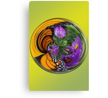 Nature in a Glass Ball Canvas Print