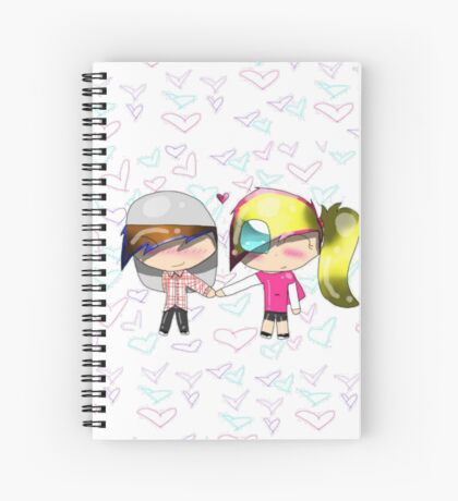 Candy & Cameron hold Hands Spiral Notebook