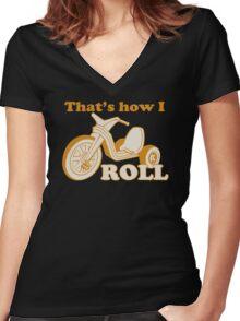 Big Wheel Funny TShirt Epic T-shirt Humor Tees Cool Tee Women's Fitted V-Neck T-Shirt