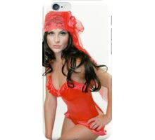 Vfox Red Play Suit  iPhone Case/Skin