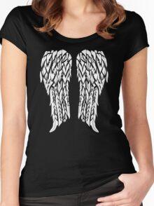 Biker Wings Funny TShirt Epic T-shirt Humor Tees Cool Tee Women's Fitted Scoop T-Shirt