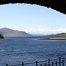 view from Eilean Donan Castle out to Loch Duich by BronReid
