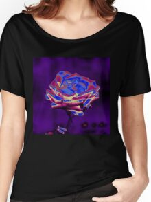 Blue and Purple Rose Women's Relaxed Fit T-Shirt