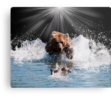 on stoppable force Metal Print