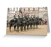 The Queens Blue Horseguards Greeting Card