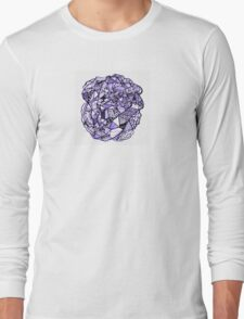Stuff in Black and Purple Long Sleeve T-Shirt
