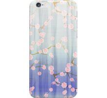 Cute girly pink purple gradient cherries blossom  iPhone Case/Skin