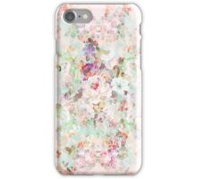 Pink watercolor vintage flowers pattern iPhone Case/Skin