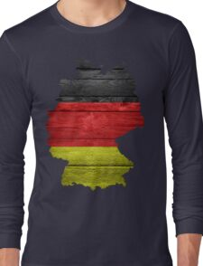Germany Flag Map Long Sleeve T-Shirt
