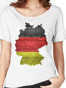 Germany Flag Map Women's Relaxed Fit T-Shirt