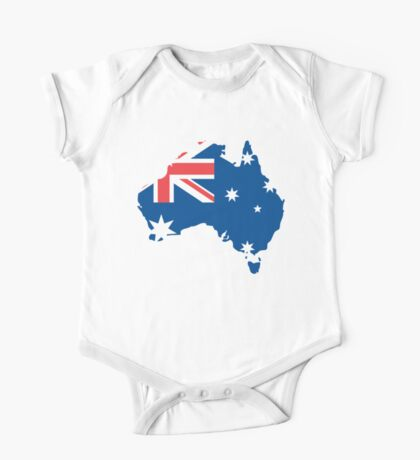 Australia Flag and Map One Piece - Short Sleeve