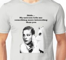 Shhh... My unicorn tell me something Unisex T-Shirt
